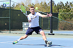 23 April 2015: Eddy Covalschi. The Notre Dame University Fighting Irish played the Georgia Tech University Ramblin' Wreck at the Cary Tennis Park in Cary, North Carolina in a 2015 NCAA Division I Men's Tennis and Atlantic Coast Conference Tournament First Round match. Georgia Tech won the match 4-0.