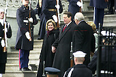 Washington, DC - January 20, 2001-- Former Vice President Al Gore with wife Tipper, and Dick Cheney and wife Lynne decend the East Front steps of the United States Capitol after the swearing-in ceremony for United States President George W. Bush..Credit: Ron Sachs / CNP