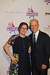 Scott Hamilton poses with founder Sharon Cohen - Figure Skating in Harlem celebrates 20 years - Champions in Life benefit Gala on May 2, 2017 in New York Ciry, New York.   (Photo by Sue Coflin/Max Photos)