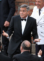 George Clooney & Amal Alamuddin wedding celebration at the Aman Hotel in Venice - Italy