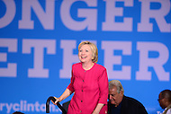 Philadelphia, PA - August 16, 2016: Democratic presidential candidate Hillary Clinton walks on stage to speak at a campaign rally in Philadelphia, Pennsylvania, August 16, 2016.  (Photo by Grant Hollman/Media Images International)
