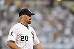 CHICAGO - JULY 06:  Kevin Youkilis #20 of the Chicago White Sox looks on against the Toronto Blue Jays on July 6, 2012 at U.S. Cellular Field in Chicago, Illinois.  The White Sox defeated the Blue Jays 4-2.  (Photo by Ron Vesely)  Subject:  Kevin Youkilis