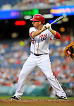 17 May 2012: Washington Nationals first baseman Adam LaRoche in action against the Pittsburgh Pirates at Nationals Park in Washington, DC. The Pirates defeated the Nationals 5-3 in the second game of their 2-game series. Mandatory Credit: Ed Wolfstein Photo