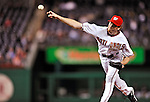 29 September 2009: Washington Nationals' pitcher Mike MacDougal closes out the game against the New York Mets at Nationals Park in Washington, DC. The Nationals rallied to defeat the Mets 4-3 in the second game of their final 3-game home series. Mandatory Credit: Ed Wolfstein Photo