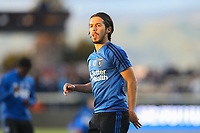 San Jose, CA - Saturday April 08, 2017: Jahmir Hyka  prior to a Major League Soccer (MLS) match between the San Jose Earthquakes and the Seattle Sounders FC at Avaya Stadium.