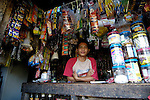 A resident of Bantacan, Mindanao, in his small store..