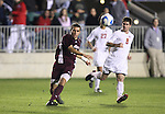 14 December 2007: Massachusetts' Mark DeSantis (18) and Ohio State's Danny Irizarry (8). The Ohio State University Buckeyes defeated the University of Massachusetts Minutemen 1-0 at SAS Stadium in Cary, North Carolina in a NCAA Division I Mens College Cup semifinal game.