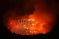 Lava lake in the crater of Nyiragongo Volcano, Democratic Republic of the Congo (2011)