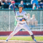 5 September 2016: Vermont Lake Monster outfielder Steven Pallares in action against the Lowell Spinners at Centennial Field in Burlington, Vermont. The Lake Monsters defeated the Spinners 9-5 to close out their 2016 NY Penn League season. Mandatory Credit: Ed Wolfstein Photo *** RAW (NEF) Image File Available ***