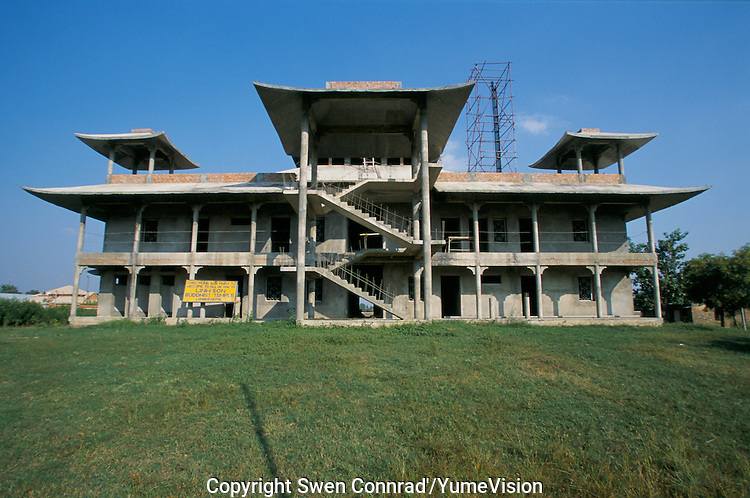 A Buddhist temple build by privat donators in Lumbini Nepal, marks the birth place of Siddhartha Gautam Buddha..In 1976, the Nepalese Government and UNESCO designated Lumbini as a world heritage site..-The full text reportage is available on request in Word format