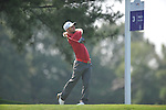 Golfer Richard Johnson tees off on the third hole at the PGA FedEx St. Jude Classic at TPC Southwind in Memphis, Tenn. on Thursday, June 9, 2011.