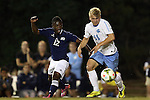 28 October 2014: North Carolina's Verneri Valimaa (18) and Georgia Southern's Eric Dinka (12). The University of North Carolina Tar Heels hosted the Georgia Southern University Eagles at Fetzer Field in Chapel Hill, NC in a 2014 NCAA Division I Men's Soccer match. North Carolina won the game 6-2.