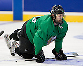 Andrew Kozek (North Dakota 10) - The 2008 Frozen Four participants practiced on Wednesday, April 9, 2008, at the Pepsi Center in Denver, Colorado.