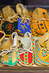 Yakama National Cultural Center Gift Shop features hand made Yakama handwork.  Hand-beaded moccosins.