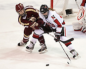 Kate Leary (BC - 28), Paige Savage (NU - 28) - The Northeastern University Huskies defeated Boston College Eagles 4-3 to repeat as Beanpot champions on Tuesday, February 12, 2013, at Matthews Arena in Boston, Massachusetts.