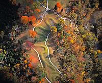 Serpent Mound Aerial View, Serpent Mound State Memorial, Ohio  Ancient Native America mound structure
