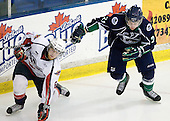 Ryan Ellis (Windsor - 6), RJ Mahalak (Plymouth - 21) - The Windsor Spitfires defeated the Plymouth Whalers 3-2 (OT) to sweep the Ontario Hockey League Western Conference Semi-Finals on Wednesday, April 7, 2010, at Compuware Arena in Plymouth, Michigan.
