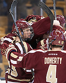 Patrick Brown (BC - 23) - The Boston College Eagles defeated the Boston University Terriers 3-1 (EN) in their opening round game of the 2014 Beanpot on Monday, February 3, 2014, at TD Garden in Boston, Massachusetts.