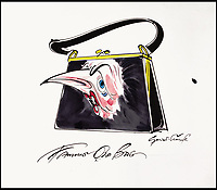 BNPS.co.uk (01202 558833)<br /> Pic: Sothebys/BNPS<br /> <br /> 'Famous old bag' - Margaret Thatcher<br /> <br /> A collection of more than 130 drawings by one of Britain's most celebrated cartoonists has emerged for auction and are tipped to sell for &pound;850,000.<br /> <br /> The collection of Gerald Scarfe - who has worked as a cartoonist for the Sunday Times for 44 years - includes satirical portraits of leading political figures from Winston Churchill to Theresa May, as well as examples of his work on Disney film Hercules and Pink Floyd's animation film The Wall.<br /> <br /> While many of the drawings included in the auction have been published, a number of works included in the sale are unseen.<br /> <br /> Those who have been immortalised in his cartoons include Donald Trump, Barack Obama, George Bush, David Cameron, Tony Blair, Margaret Thatcher, Boris Johnson, Nigel Farage, George Osborne and Jeremy Corbyn.