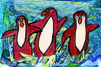 Red Penguins