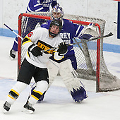 Jordan Bourgonje (WIT - 16), Derek Mohney (Curry - 30) - The Wentworth Institute of Technology Leopards defeated the visiting Curry College Colonels 1-0 on Saturday, November 23, 2013, at Walter Brown Arena in Boston, Massachusetts.