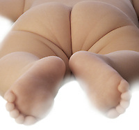 Baby feet and butt<br />