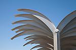 Metal Palm Design on Alicante Harbour Wall Pier Promenade Walk, Spain