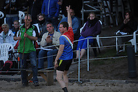 FIERLJEPPEN: BURGUM: 07-06-2013, Nationale competitie fierljeppen, Jaco de Groot, ©foto Martin de Jong