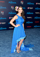 "HOLLYWOOD, CA - NOVEMBER 14: Auli'i Cravalho attends the AFI FEST 2016 Presented By Audi - Premiere Of Disney's ""Moana"" at the El Capitan Theatre in Hollywood, California on November 14, 2016. Credit: Koi Sojer/Snap'N U Photos/MediaPunch"