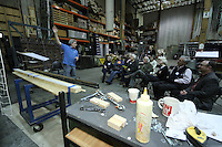 Seattle Opera Insiders' Series: Scenic Elements tour of Scenic Studios. Bruce Warshaw, Master Scenic Carpenter.