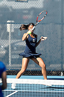 SAN ANTONIO, TX - JANUARY 28, 2017: The University of Texas at San Antonio Roadrunners defeat the McNeese State University Cowgirls 5-2 at the UTSA Tennis Center. (Photo by Jeff Huehn)