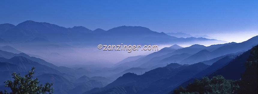 Southern California (SoCal), Blue, Mountain, Range, haze, fog, Panorama CGI Backgrounds, ,Beautiful Background