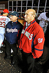30 September 2009: Washington Nationals' Owner Mark Lerner (left) and Team President Stan Kasten (right) watch post-game festivities after the home season finale against the New York Mets at Nationals Park in Washington, DC. The Nationals rallied in the bottom of the 9th inning on Justin Maxwell's walk-off Grand Slam to win 7-4 and sweep the Mets 3-game series capping the Nationals' 2009 home season. Mandatory Credit: Ed Wolfstein Photo