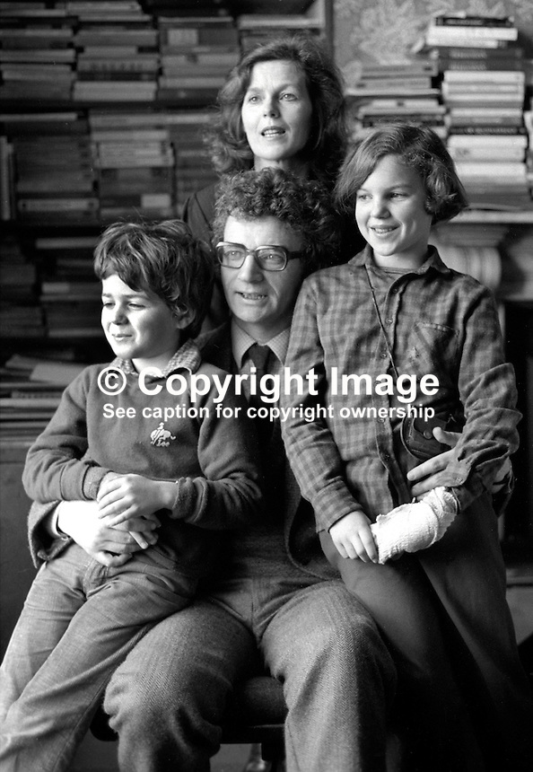 Dr Seamus Deane, author, poet, academic, born Londonderry, N Ireland, Professor of Modern English and American Literature at University College Dublin, with wife, son & daughter. 198101000007SD3..Copyright Image from Victor Patterson, 54 Dorchester Park, Belfast, United Kingdom, UK...For my Terms and Conditions of Use go to http://www.victorpatterson.com/Victor_Patterson/Terms_%26_Conditions.html