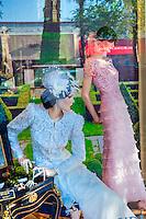 Fe Zandi Haute Couture: El Paseo Drive, Palm Desert, CA, Boutiques; famous; retailers; fashion; shopping; Mannequins; near Palm Springs; Palm Trees; California; Coachella Valley; Desert;
