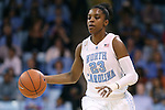 02 March 2014: North Carolina's Diamond DeShields. The University of North Carolina Tar Heels played the Duke University Blue Devils in an NCAA Division I women's basketball game at Carmichael Arena in Chapel Hill, North Carolina. UNC won the game 64-60.