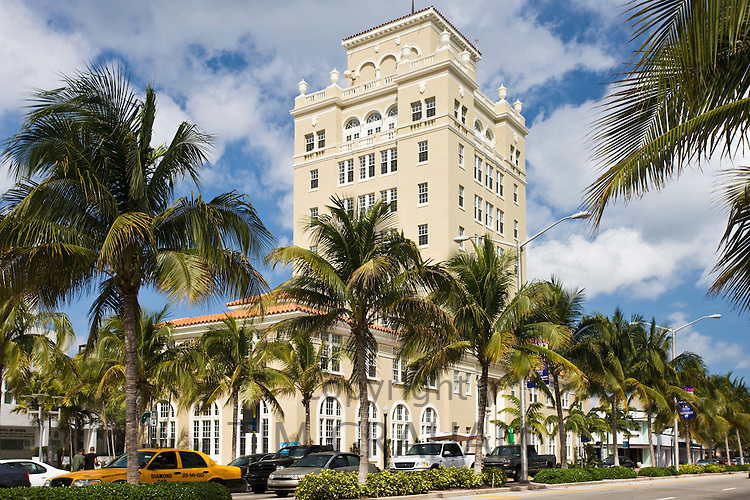 Old City Hall, Washington Street, in Miami's famous Art Deco district at South Beach, Miami, Florida, USA