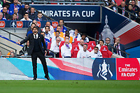 Chelsea manager Antonio Conte reacts       <br /> <br /> <br /> Photographer Craig Mercer/CameraSport<br /> <br /> Emirates FA Cup Semi-Final - Chelsea v Tottenham Hotspur - Saturday 22nd April 2017 - Wembley Stadium - London<br />  <br /> World Copyright &copy; 2017 CameraSport. All rights reserved. 43 Linden Ave. Countesthorpe. Leicester. England. LE8 5PG - Tel: +44 (0) 116 277 4147 - admin@camerasport.com - www.camerasport.com