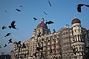 Pigeons fly outside the Taj Mahal Hotel, one of the sites of the 2008 terrorist attacks, in Mumbai, India. Photograph: Sanjit Das