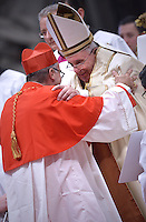 Cardinal Daniel Fernando Sturla Berhouet, archbishop of Montevideo, Uruguay,Spain,Pope Francis,during a consistory for the creation of new Cardinals at St. Peter's Basilica in Vatican.February 14, 2015