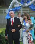 HANNAH ROTENBERRY is escorted by Bill Rotenberry during Homecoming ceremonies before the Water Valley vs. J.Z. George football game in Water Valley, Miss. on Friday, September 10, 2010.