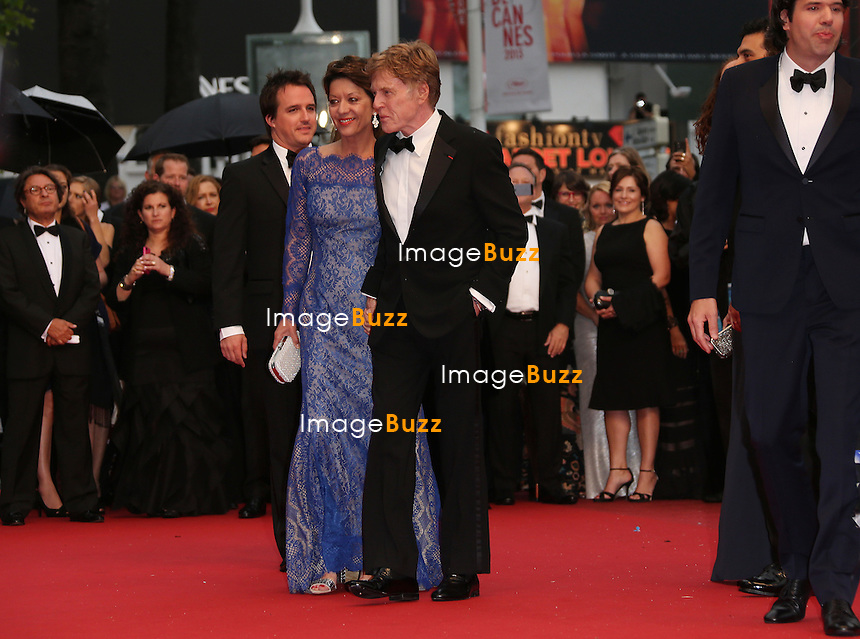 CPE/Actor Robert Redford (R) and his wife Sibylle Szaggars attend the 'All Is Lost' Premiere during the 66th Annual Cannes Film Festival at Palais des Festivals on May 22, 2013 in Cannes, France.