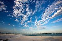 Idyllic shoreline and sandy beach at Anna Maria Island, Florida, United States of America