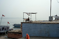 At a ghat in Varanasi, Uttar Pradesh, India.