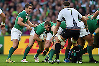 Sean Cronin of Ireland with the ball at the back of a maul. Rugby World Cup Pool D match between Ireland and Romania on September 27, 2015 at Wembley Stadium in London, England. Photo by: Patrick Khachfe / Onside Images