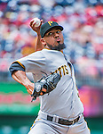 21 June 2015: Pittsburgh Pirates pitcher Antonio Bastardo on the mound against the Washington Nationals at Nationals Park in Washington, DC. The Nationals defeated the Pirates 9-2 to sweep their 3-game weekend series, and improve their record to 37-33. Mandatory Credit: Ed Wolfstein Photo *** RAW (NEF) Image File Available ***