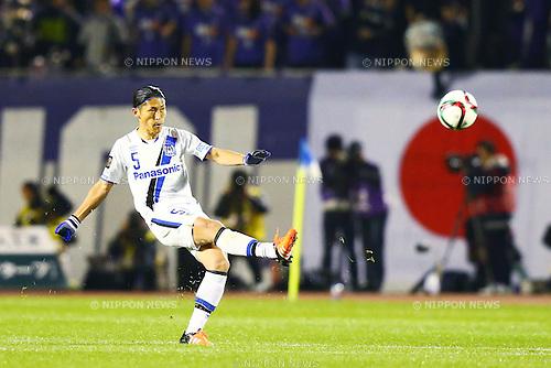 Daiki Niwa (Gamba),<br /> DECEMBER 5, 2015 - Football / Soccer : <br /> 2015 J.League Championship Final 2nd leg match<br /> between Sanfrecce Hiroshima - Gamba Osaka<br /> at Hiroshima Big Arch in Hiroshima, Japan.<br /> (Photo by Shingo Ito/AFLO SPORT)