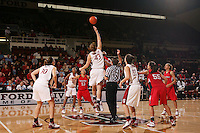 3 December 2006: Brooke Smith, Candice Wiggins, Kristen Newlin and Jillian Harmon during Stanford's 73-49 win over Texas Tech at Maples Pavilion in Stanford, CA.
