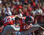 Ole Miss' Donte Moncrief (12) celebrates his second quarter touchdown reception with Ole Miss' E.J. Epperson vs. Arkansas at Vaught-Hemingway Stadium in Oxford, Miss. on Saturday, October 22, 2011. .