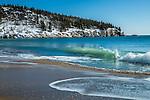 Sand Beach in Acadia National Park, Maine, USA